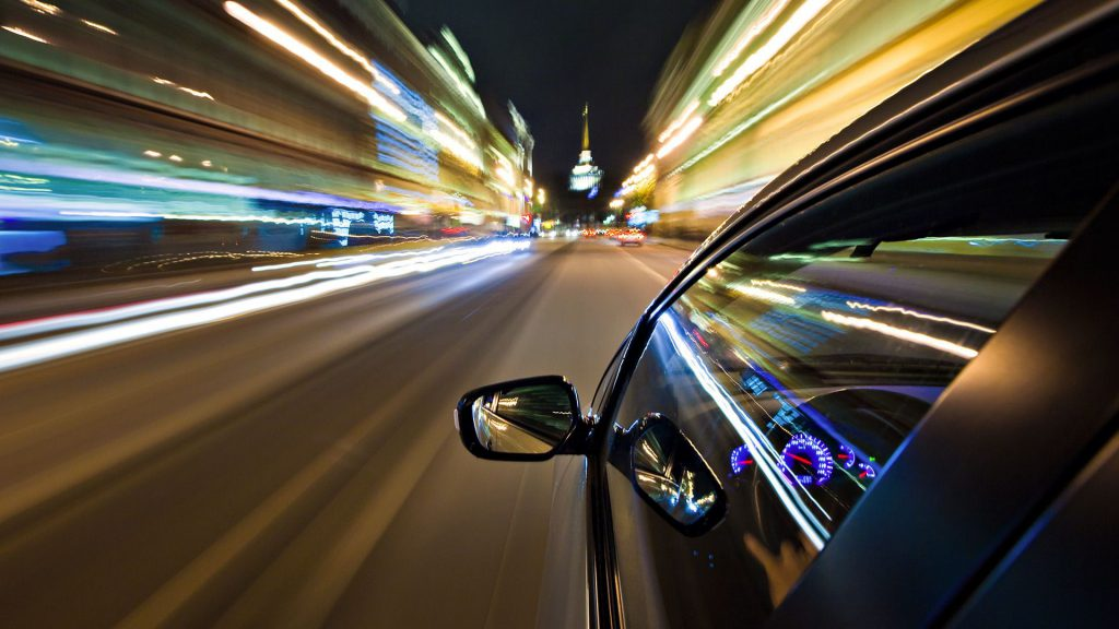 Dreamed of driving at a very high speed